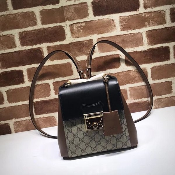 2019 Top Quality Celebrity design Letter metal Buckle embossed canvas leather Backpack Man Woman 498194 Brown Canvas Travel bag