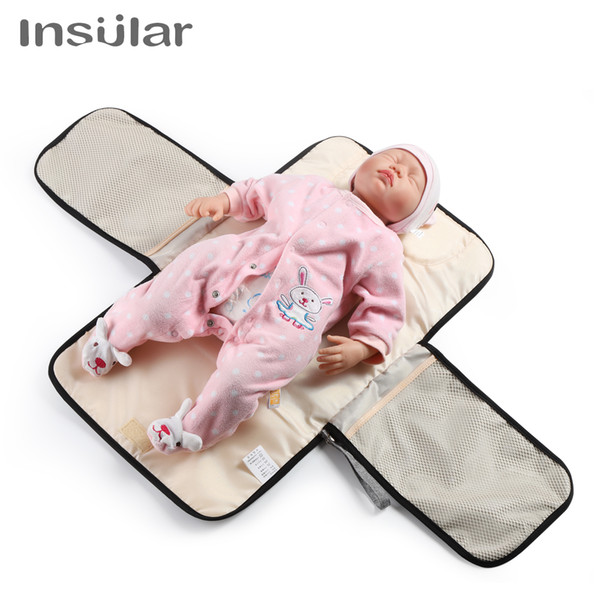 top popular New Infant Portable Baby Nappy Changing Mat Waterproof Foldable Urine Mat Multi-function Baby Diaper Changing Table Pads Covers 2020