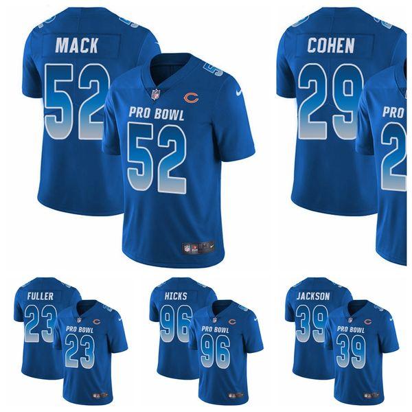 classic fit 76761 5624c Chicago Tarik Cohen Men'S Youth Women'S Khalil Mack Limited Football Jersey  Bears Royal Blue NFC 2019 Pro Bowl Mens Tux Shirt Mens Tux Shirts From ...