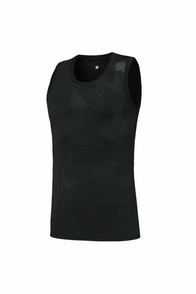 2019 new ice silk elastic tight black vest, suitable for summer outdoor sports, European code standard: S-2XL, free shipping