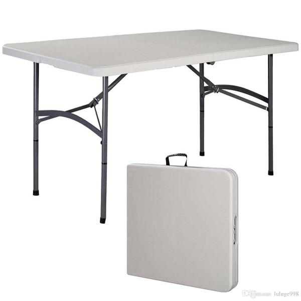 5' Складной стол Портативный Пластиковые Крытый Открытый Пикник Вечеринка Столовая лагеря Столы
