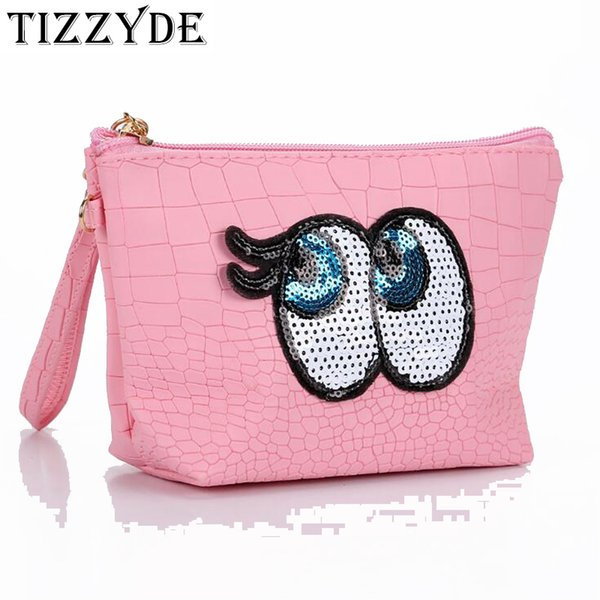 Bruce Eye Cosmetic Bag cute bag PU Waterproof Women Travel Necessarie Portable Makeup Organizer Toiletry JXY467
