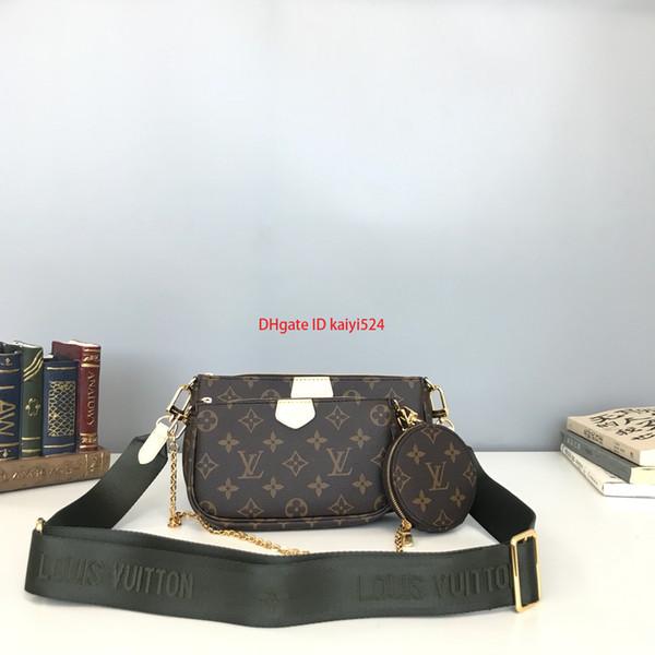 El último bolso de hombro para mujeres de las señoras Crossbody Bolsa de tres piezas Conjunto de moda de alta calidad de la roca clásica