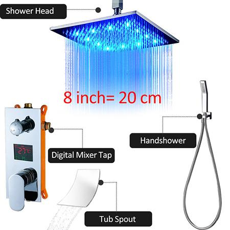 """8""""Chrome Shower Faucet"""