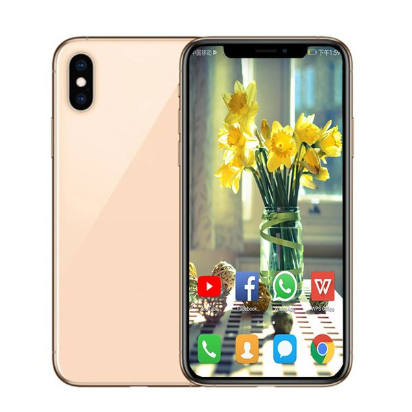Goophone XS X 5.8inch Face ID And Support Wireless Charger Smartphones 1G/8G Show Fake 4G LTE Unlocked Smart Phone