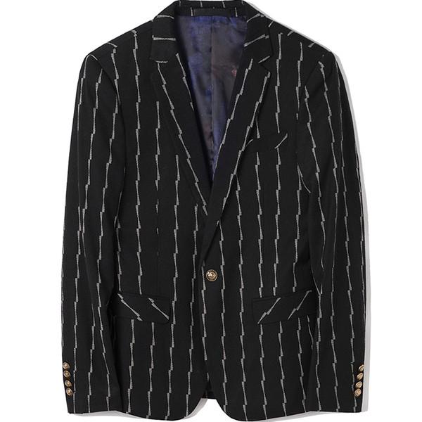 Schwarz Streifen Großhandel Herren Männer Fit L Jacke Xxl Mäntel Xl Von Xxxl Mantel Slim M Hochwertige S Anzüge Größe Blazer Asia FcJ1lK
