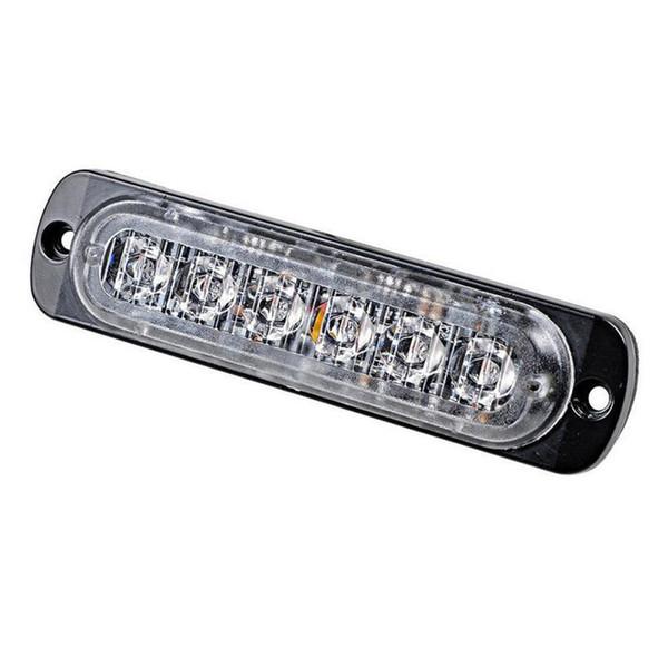 2Pcs Янтарный / белый 6 LED Универсальные Грузовики Прицепы Caravan аварийного предупреждения вспышки опасности со стороны маркера LED Strobe Light