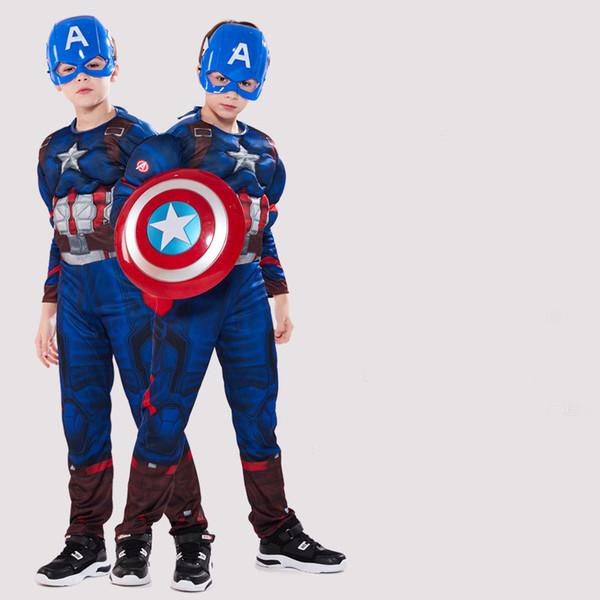 Halloween de proveedores de marcas de ropa de Halloween Disfraces para niños Disfraces traje de músculos tratamiento de lujo héroes venganza fiesta o truco