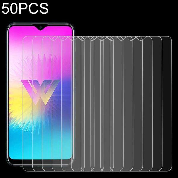 50 PCS per LG W30 Pro 9H 2.5D schermo Tem