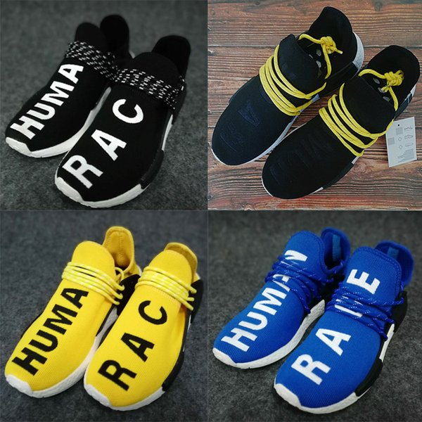 fd9fca2365e5b1 Adidas 2019 Designer shoes Adidas Boost men women ADDS Human Race Мужские кроссовки  Pharrell Williams Образец