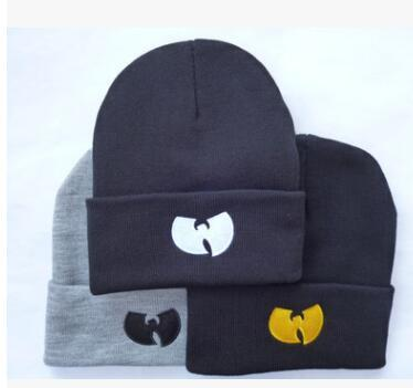 12pcs Winter Wutang Letter WU-TANG CLAN Musice Beanie Skullies Knitted Women Wu Tang Hat HipHop Winter Warm pompom Hats Caps