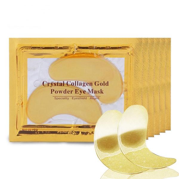 top popular 24k Gold Crystal Collagen Eye Mask Eye Patches Anti Dark Circles Puffiness Moisturizing Eye Masks Eyes Pads 2021