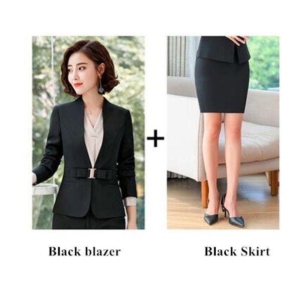Черное пальто и юбка