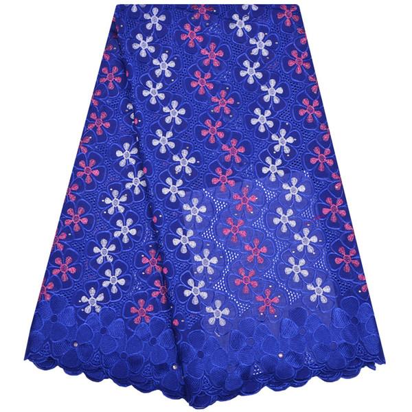100% хлопок африканские белые кружевные ткани высокого качества швейцарский хлопок вуаль шнурки нигерийский гипюр кружева для мужчин / женщин платье A1178