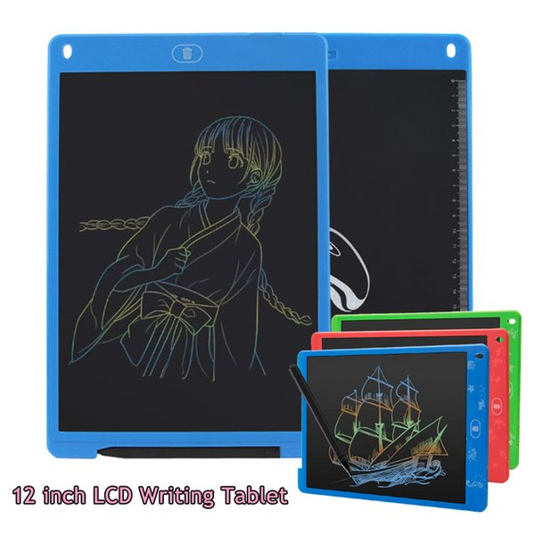 12 Inch LCD Digital Children Drawing Tablet Portable Electronic Ultra-thin Board Unlimited Use Writing Tablet Ultra-thin With Pen For Kids
