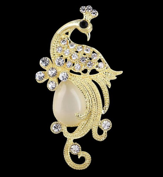 Wholesale price! A variety of styles optional classic 14K brand brooch gold silver pearl diamond letter modeling pin jewelry party gift A7