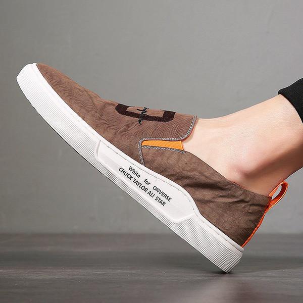 Mais recente 018the Primavera Homens S Sapatos Coreano Edição Juventude Tendência Estudante S Sapatos Chinelo, Liso Grosso-Sapatos de Lazer, homens S Tendência Sapatos