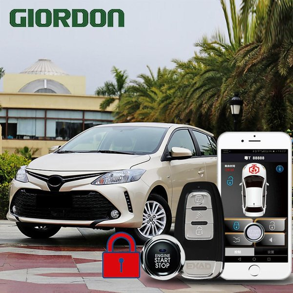 GIORDON VIOS 2017 car accessories Keyless Entry Comfort System PKE Phone APP Remote Start Car Engine Alarm Push 913