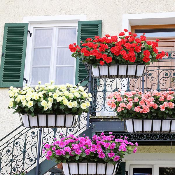 Acheter Artificiel Décoratif Fleur Rose Bureau Salon Faux Mobilier De  Maison De Fleurs Jardin Simulation Fleur Azalée De $6.63 Du Xu0318 |  DHgate.Com