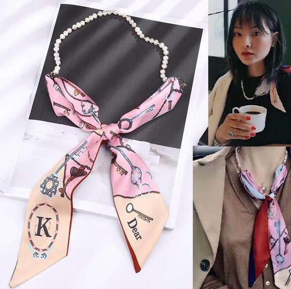 2020 heißeste Süßwasserperle Halstuch Halsband Frauen-Schal-Halskette Schmucksache-elegante Dame Wedding Polyester-Halskette