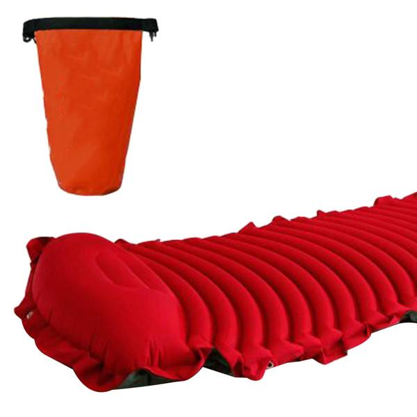 ÜST! -Açık Kamp Otomatik Şişme Yastık Çadır Hava Yatağı Nem Geçirmez Masaj Uyku Pedi Ultra-hafif Taşınabilir T
