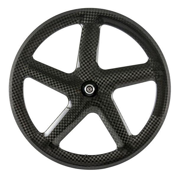 Hot Sale carbon wheels 5 spoke wheel clincher 12K glossy carbon wheelset five spoke wheel road bicycle tubular