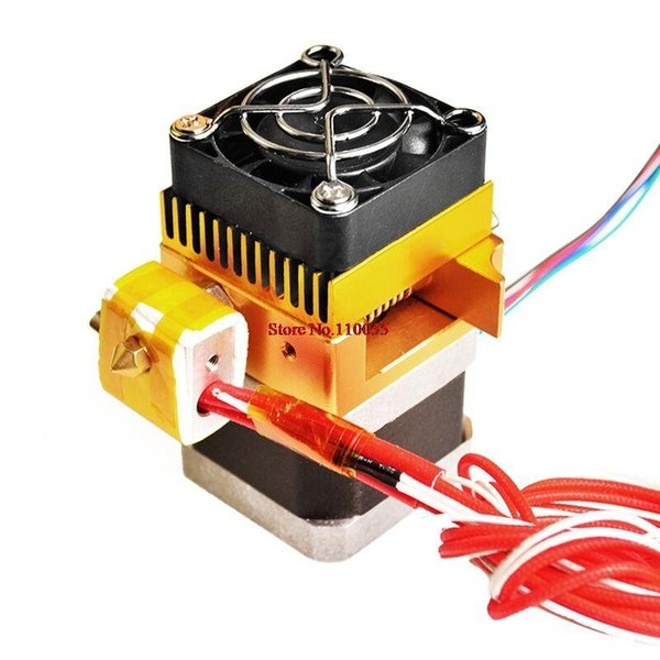 Freeshipping 3D Printer Head MK8 estrusore J-head Hotend Nozzle 0.4mm Diametro ingresso alimentazione 1.75 Filament Extra Nozzle +1 meter motor cable