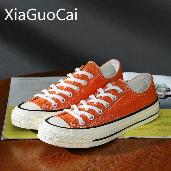 Newest Spring and Summer Women Canvas Shoes 1970s Orange Retro Unisex Casual Shoes South Korea Ulzzang Street Sneakers
