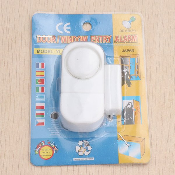 Wireless Door Window Sensor alarm Magnetic Switch Home Security Alarm Bell Burglar Warning Safety System Free Shipping DHL