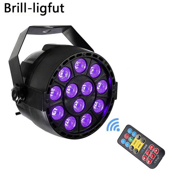 Otomatik Ses Aktif DMX512 Master-slave 36 W UV LED Sahne Işık Ultraviyole Siyah Işık Par Işık Spot lambası Disco DJ Kulübü için