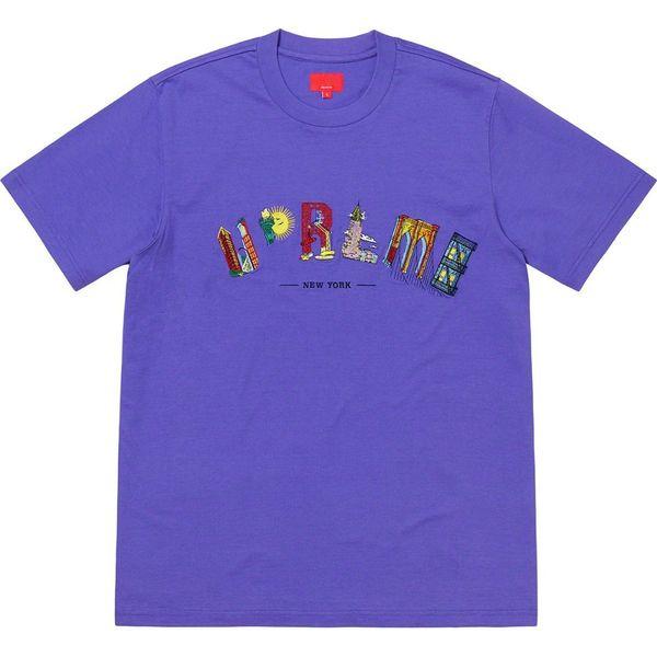 19SS Cidade Arco Tee Rainbow Marcos Urbanos de Manga Curta Moda Algodão Mulheres Casal mens designer T-Shirt HFWPTX245