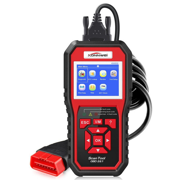 KONNWEI KW850 Ferramenta de Diagnóstico Do Carro OBD2 Completa KW 850 OBDII Auto Scanner PK AD310 Atualização NT301 Livre No PC com RU / UK / US Warehouse
