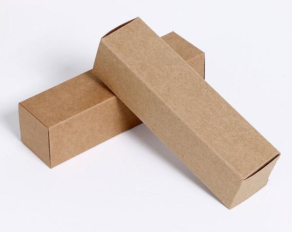Brown Kraft Paper Cardboard Box Small DIY Craft Paperboard Storage Gift Cosmetic Lipstick Packaging
