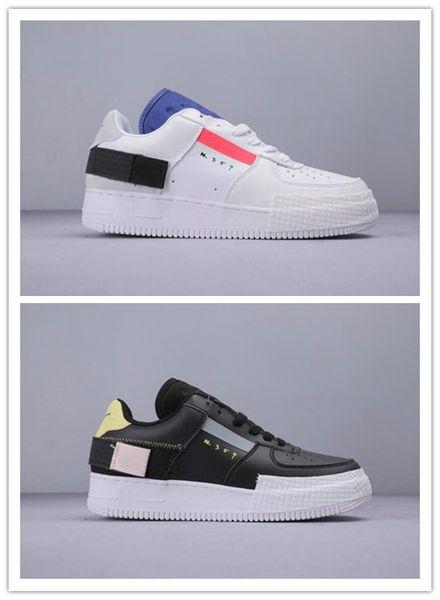 Novo Froced Baixo N.354 1 x TIPO Sapatos de Skate Homens Mulheres Branco Preto Confortáveis Tênis de Skate Ao Ar Livre Sapatos de Designer Especial 10