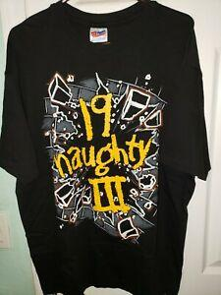 Naughty By Nature Rap Tee 19 Spregiudicatezza 3 Winterland Shirt Large 90s Vintage 1993