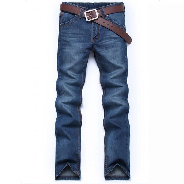 Four seasons Denim Long Pants Men Jeans Fashion Casual Cotton Jeans Men Mens Classic Retro Nostalgia Straight Denim