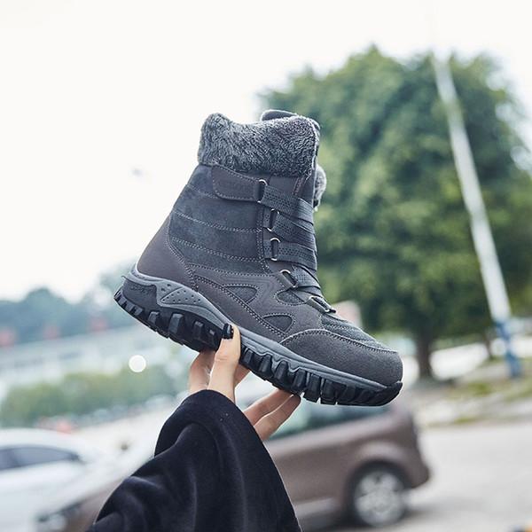 Tênis de inverno Turismo Trekking Mulheres Sapatos Botas de Montanha Tático Militar Sneaker Caça Caminhadas Sapatos De Pelúcia Ao Ar Livre Camping Tamanho 35-42
