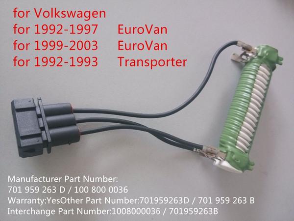 For VW EuroVan Transporter Engine Cooling Fan Resistor OE Supplier 701 959 263 D