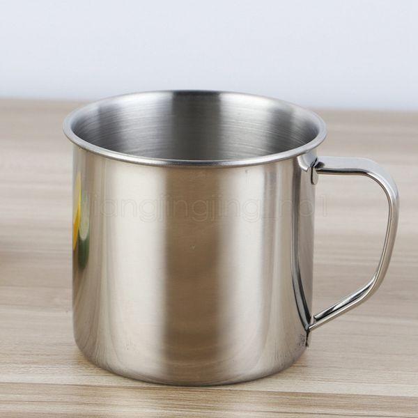 250ml / 7cm Paslanmaz Çelik Kahve Çay Mug Kupası Kamp Seyahat Bira Süt Espresso İzoleli Kırılmaz Çocuk Kupası açık Tumblers FFA3104