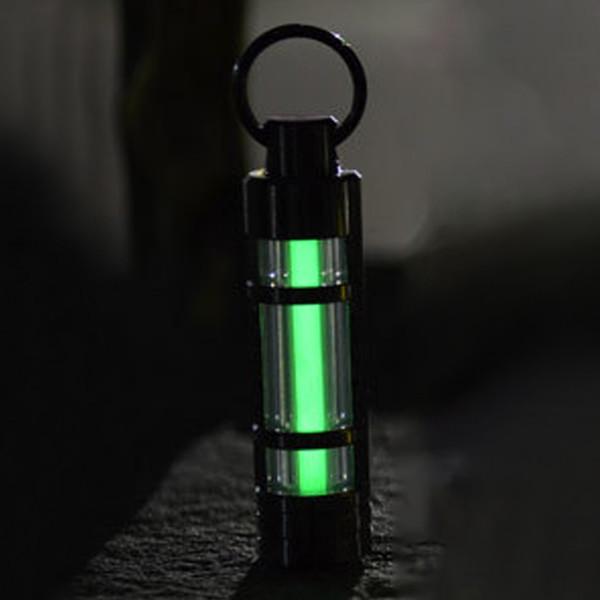 Nuova luce automatica 25 anni titanio portachiavi trizio tubo fluorescente salvavita luci emergenza catena chiave donne speciali uomini