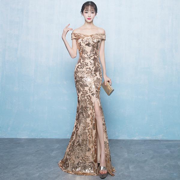 Luxury Evening Dress Lace Sequin Womens Plus Size Formal Dress Long Muslim  Evening Dresses 2019 Party Long Engagement Dresses Designer Party Dresses  ...