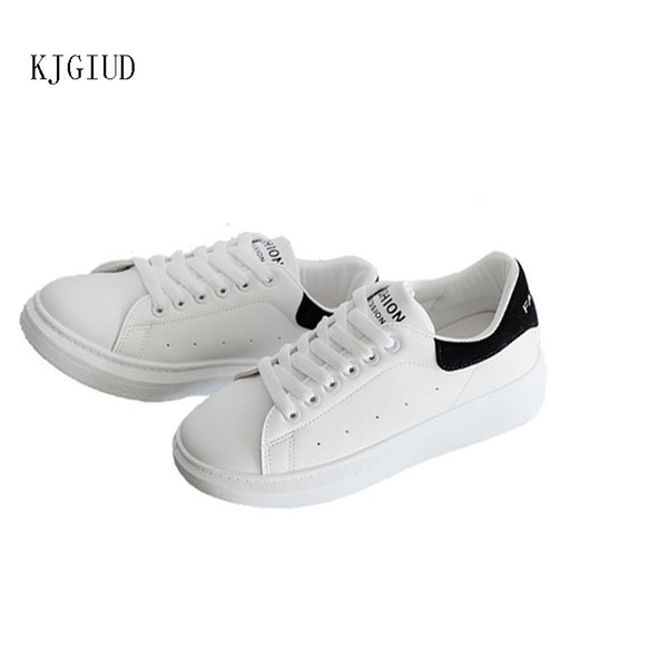 2019 spring and autumn new casual sports shoes women's wild thick-soled students white shoes tide sneakers women scarpe donna