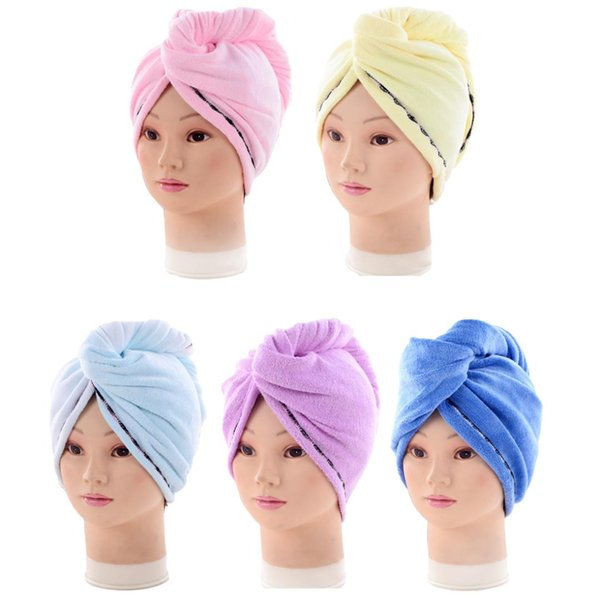 Women Bathroom Super Absorbent Quictk-drying Microfiber Bath Towel Lady's Hair Dry Cap Salon Towel 60*25cm
