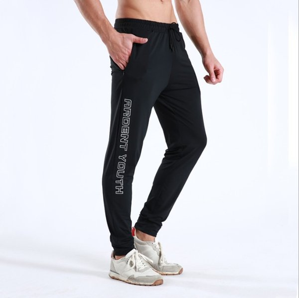 Mens Joggers Sports Pants Running Trousers Fitness Outdoor Casual Training Pants Breathable and Quick-drying Asian Size M-3XL