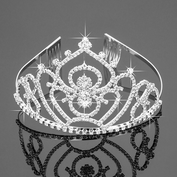 best selling New Bridal Tiaras Crowns With Rhinestones Bridal Jewelry Girls Evening Prom Party Performance Pageant Crystal Wedding Accessories ZH-047
