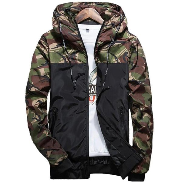 Hot Spring Autumn Men S Camouflage Coat Mens Hoodies Casual Jacket Brand Clothing Mens Windbreaker Coats Male Outwear 5xl