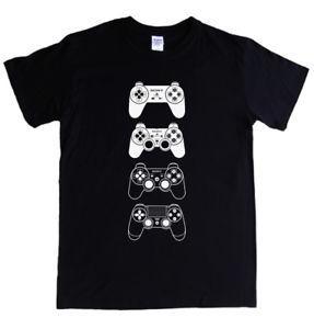 PLAYSTATION PADS T-shirt S - 5XL gta destiny god of war O-Neck red dead PS1 2 3 4