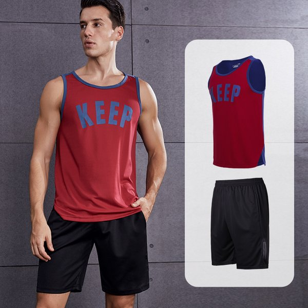 keep + shorts pretos vermelhos ajustaram RTC 5818