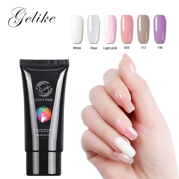 Diseños De Uñas Uv Poly Gel Kit Sin Crackle Manicure Colores Claros Uñas Barniz Barniz Extensión Francesa Led Light Acrylic Salon Por Jinggongbeauty