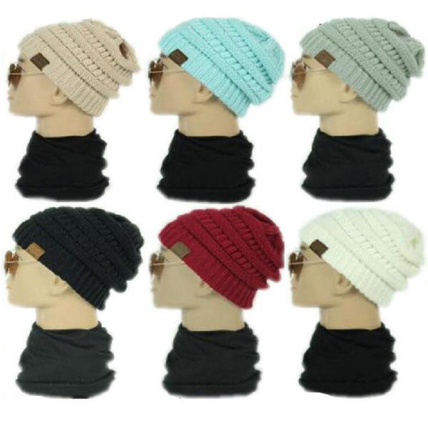 Unisex C Örme Şapka Trendy Kış Kürk Poms Beanie Etiket Tığ Şapka Fedora Tıknaz Kafatası Kapaklar Açık Sıcak Başlık Kap Hemming Sıcak Satış
